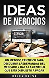 IDEAS DE NEGOCIOS: Un método científico para descubrir las demandas del mercado y dar a la gente lo que está dispuesto a pagar (Libro en Español/ Business Ideas Spanish Book Version)