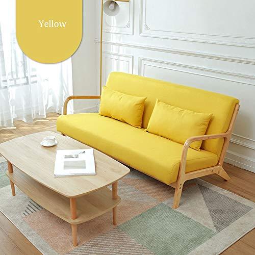 QinWenYan Sofa, 5 levendige kleuren, kantoor, moderne sofa, houten stof, zacht, woonkamer, zitzak