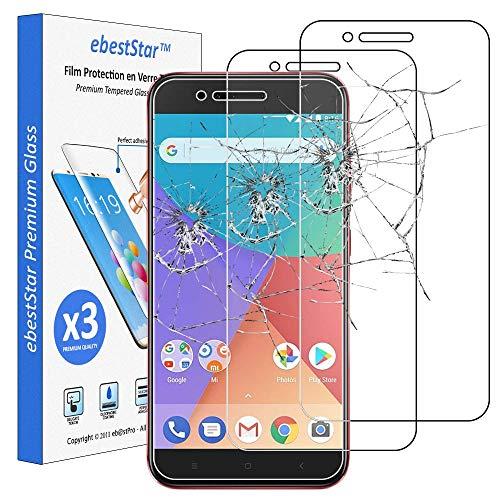 ebestStar - [Pacco x3 Vetro Temperato Compatibile con Xiaomi Mi A1 Protezione Schermo Pacco da 3 Pellicole Anti Shock, Anti Rottura, Anti graffio [Apparecchio: 155.4 x 75.8 x 7.3mm, 5.5'']