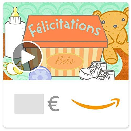 Chèque-cadeau Amazon.fr - eChèque-cadeau - Bébé illumine ton monde (animation)