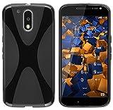 mumbi X-TPU Funda compatible con Motorola Moto G4/G4 Plus, negro