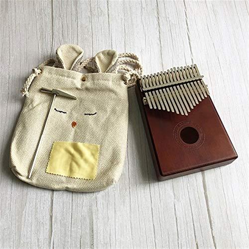 Kalimba, Daumenklavier 17 Keys Finger Kalimba Paino Mbira Sanza Pocket Size Unterstützung Tasche Tastatur Marimba Holz Musikinstrument (Color : Type 2)