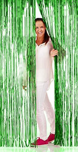 Tenda a fili per porta in alluminio verde 2 x 1 m