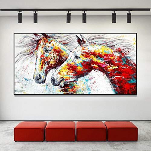 Bricolaje Pintura Diamante 5D caballo,Diamond Painting by Number Kits Large Full Drill Rhinestone bordado punto de cruz Art Craft para la decoración de la Pared del hogar B1105 Square_Drill_80x220cm