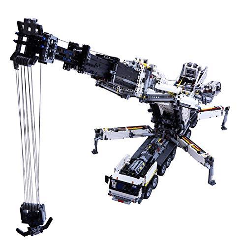 PEXL Technik Liebherr LTM 11200 Kran, Technic Kran-LKW Modell, 7692 Klemmbausteine Große Custom Bausteine MOC Set - Kompatibel mit Lego Technik