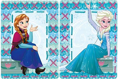 Vervaco Stickkarten für Kinder Disney Frozen ELSA Stickpackung, Karton, weiß, 18,5 x 26 x 0,3 cm