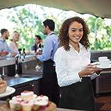 Gitua 4 Stück Taillen Schürze mit 2 Taschen für Frauen Männer, Kurz Kellnerschürze für Restaurant, Bar, Café (Schwarz) - 2