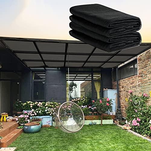 YUDEYU Red de Sombra Casa Alambre Redondo Plantas Verdes Aislamiento Red Solar (Cuerda 5m) Tasa de sombreado 70% Resistente al Viento y Transpirable (Color : Black, Size : 3x7m)