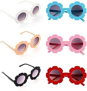 BKpearl 6 Pcs Flower Kids Sunglasses, Cute Girl Sunglasses UV Protection Glasses Colorful Eyewear for Baby Kids Children Girl