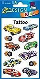 AVERY Zweckform 56685 Temporäre Tattoos Rennfahrzeuge (Kindertattoos, dermatologisch getestet, Kindergeburtstag, Kinder zum Spielen) 12 Motive für Jungen
