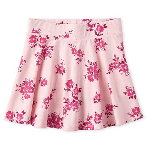 The Children's Place Girls' Floral Print Pleated Skorts, Pink Tinge, S (5/6)