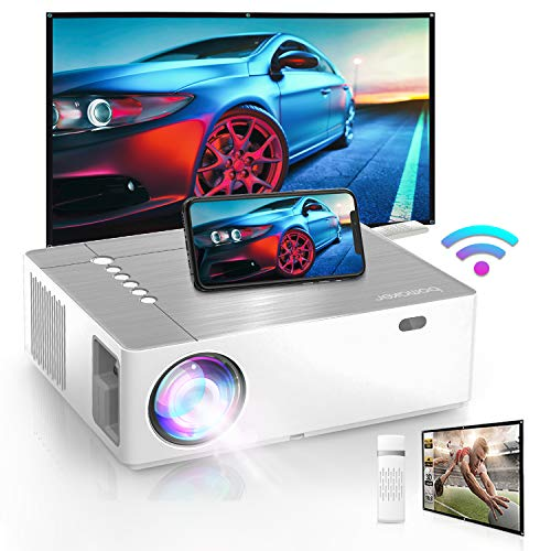 Bomaker 2021 Upgraded Outdoor Projector, 300 ANSI Lumen, Native 1920 x1080p Full HD Movie Projector for Outdoor Use, 6D ±50° X/Y Keystone and ±50% Zoom Out, for TV Stick, Android, iPhone, HDMI, PCs