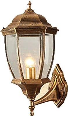 FFLJT Applique murale industrielle Lumière rustique Fixture Vintage mur d'éclairage intérieur avec abat-jour en métal Antique cyan style et le look rétro (Color : B)