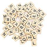 Beyond Dreams 100 Stück Scrabble Buchstaben aus Holz | Holzbuchstaben auf Englisch | Buchstabensteine Ersatzbuchstaben Zubehör Spielsteine für Spiele nachhaltig | Spieleabend Familie...