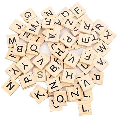 Beyond Dreams® 100 Stück Scrabble Buchstaben aus Holz | Holzbuchstaben auf Englisch | Buchstabensteine Ersatzbuchstaben Zubehör Spielsteine für Spiele nachhaltig | Spieleabend Familie Freunde