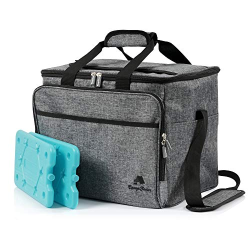 CampFeuer Insulated Backpack | 30 L | Large Size | Heather Grey | Lunch and Snack Bag | Foldable and Waterproof | Keeps the contents warm or cold