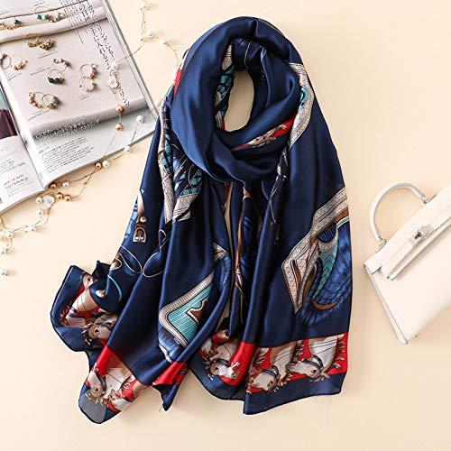 MYTJG Lady sjaal dames mode zijden sjaal elegante Lady Print sjaal tas vrouwelijke strand sjaal sjaal sjaal