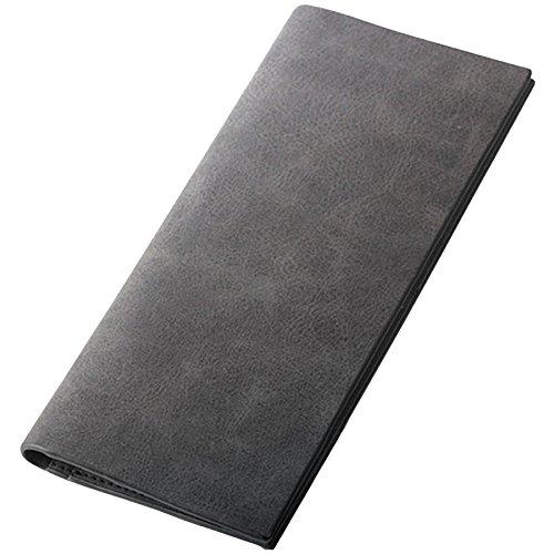 [BLUE SINCERE] メンズ 長財布 カード入れ お札入れ 最薄部0.5cm (小銭入れなし) SW1ab (アッシュブラック)