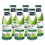 FRAU Aloe Vera Pura Biologica, Integratore aloe vera a base di gel, 6 Confezioni x 750 ml, Aloe vera da bere con proprietà depurativa, Senza glutine e Vegano