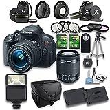 Canon EOS Rebel T5i DSLR Camera + 18-55mm IS STM Lens + Wideangle Lens...