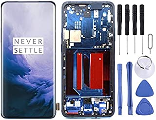 QFH Replacement parts AMOLED Material LCD Screen and Digitizer Full Assembly with Frame for OnePlus 7 Pro(Black) طقم استبد...