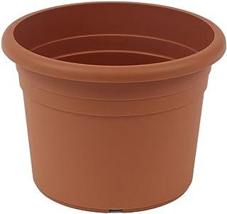 Lot de 15 Pots de Plantes en Plastique Noir pour Fleurs et Plantes d/écoratives int/érieures et ext/érieures avec Plateaux Green Thumbz Pots de Plantes carr/ées
