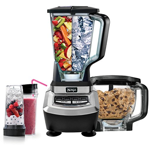 Ninja Supra Kitchen Blender System with Food Processor and Single Serve Cups – BL780 (Renewed)