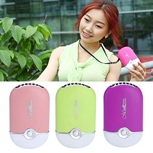 TiooDre Mixed-gadget portatili Mini condizionatore d'aria di viaggio ricaricabile tenuta in mano USB ventola di raffreddamento per l'estate (rosa)