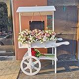 Mensola per vasi da fiori per piante 2 Tier Flower Stand Outdoor Giardino in legno Giardino di casa Balcone Scaffale Scala Display Free Standing Pieghevole Scaffale floreale Espositore per fioriera da