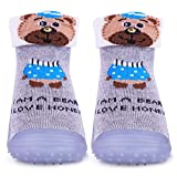 Convenient: Fast drying, children can wear them without other socks Anti Slip/ Anti Skit Rattle Socks which helps in not slipping with non-toxic material Lightweight & Flexible: Socks are light-weighted and comfortable Gives a Great Grip for Standing...