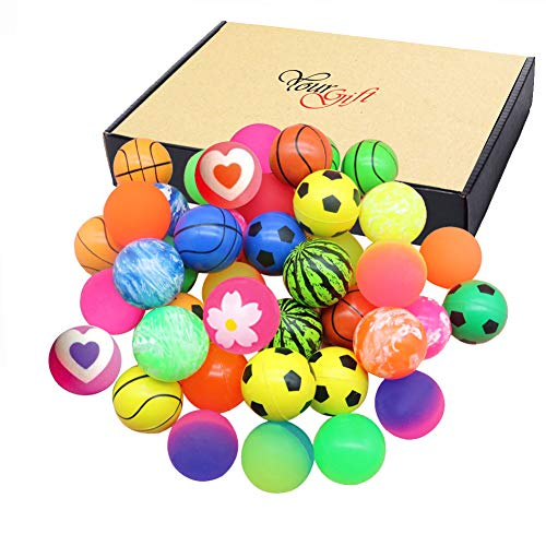 Jatidne 24 Pieces Bouncy Balls Party Favors for Kids Party Bags Fillers Colorful Bouncing Balls for...