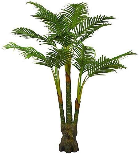 Amazon Com Artificial Palm Plant For Office House Decor 5 35 Feet Indoor Outdoor Silk Green Tree Saty Upright Without Pot 804 Kitchen Dining