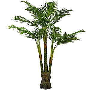 Silk Flower Arrangements Artificial Palm Plant for Office House Decor 5.35-Feet Indoor Outdoor Silk Green Tree,Saty Upright Without Pot(804#)