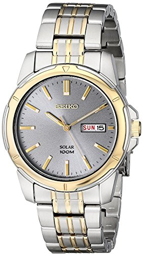 Men's  Two-Tone Stainless Steel Watch - Seiko SNE098