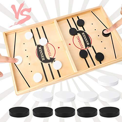 Brettspiel Hockey, Fast Sling Puck Game, Bouncing Hockey, Katapult Brettspiel, Bouncing brettspiele, Bouncing Chess Hockey Game, Eltern-Kind Interaktives Spielzeug-Partyspiel für Erwachsene (big)
