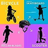 Fahrradhelm mit licht für Kinder - und Jugendliche   Größe 54-58 I Ansprechender Kinder-Fahrradhelm für Jungs und Mädchen I Aufladbares LED-Licht I Reflektierende Gurtbänder I CE Zertifiziert - 7