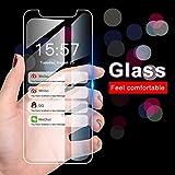 NHSCDZ Film temperato Proteggi Schermo On per iPhone 11 PRO Max XS Max XR Vetro per iPhone 7 6 6s 8 Plus 5 4 s se Vetro temperato Telefono Pellicola Protettiva, Trasparente, per iPhone11 PRO Max
