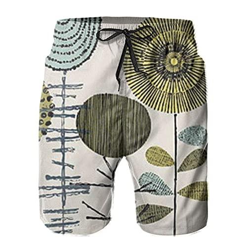 mengmeng Forma Estudio Tallos 1 Hombres Bañador Troncos de Tabla Pantalones Cortos de Playa Natación Surfing Boardshorts