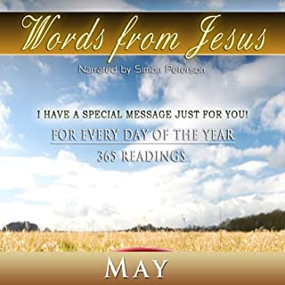 Words from Jesus: May audiobook cover art