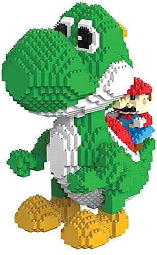 Micro Blocks Dinosaur Building Blocks Toy Animal Modely Kit Y Regalos para Niños Y Adultos, Uno De Los Personajes De La Serie Mario-Yoshi
