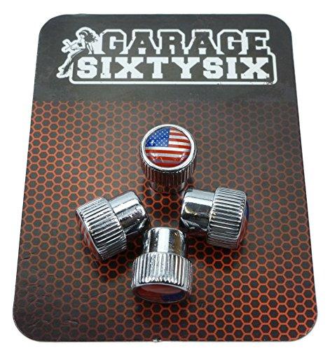 4 bouchons de valve - Modèle Chicago - Motif USA