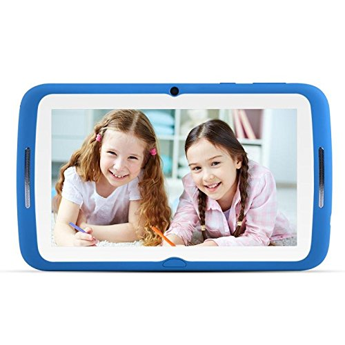 Kinder Tablets PC 7 Zoll, Android 7.1 OS, Kids Tablets W-lan BENEVE iWawa Pre-Installed, Quad Core, HD Touchscreen, 1 GB RAM, 8 GB Speicher, Wifi, Bluetooth, Dual-Kamera mit kindgerechte Silikon Hülle