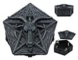 Ebros Pentagram Sabbatic Goat Baphomet Multi Purpose Decorative Jewelry Box Knights of Templar Sigil Satanic Church Goat of Mendes Keepsake Trinket Stash Boxes (Faux Stone)