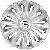 Michelin 92002 Radkappen 15 Zoll Universal Radzierblenden Monique 4er Set Fürs Auto ABS Kunststoff | Silber mit Chromring, Set of 4