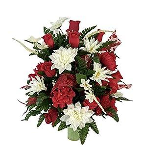 Valentine Vase Flower – Cemetery Flowers~Cemetery Styrofoam Vase Insert~Cemetery Vase Arrangement~Graveside Flowers~