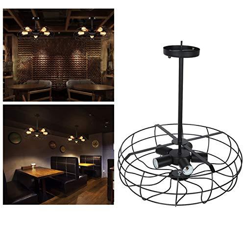Lámpara colgante, paquete ingenioso de instalación de lámparas de techo hecha de hierro pintura mate para corredores