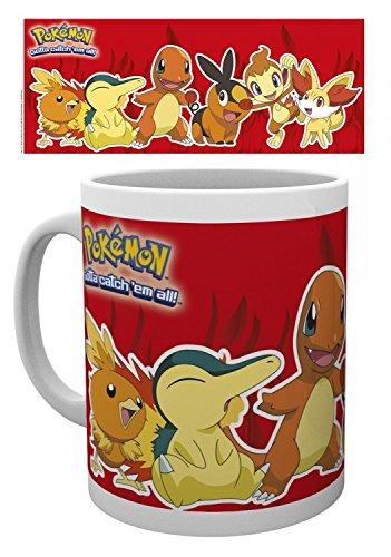 1art1 Pokemon - Feuer Typen, Flemmli, Feurigel, Glumanda, Floink, Panflam, Fynx Foto-Tasse Kaffeetasse 9 x 8 cm
