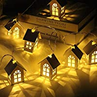 フェアリーライトストリングライト 2M 10Pcs Led Usb/バッテリー電源クリスマスツリーハウススタイルフェアリーライトLedストリング結婚式出生ガーランド家のための新年の装飾、10 Led、バッテリー