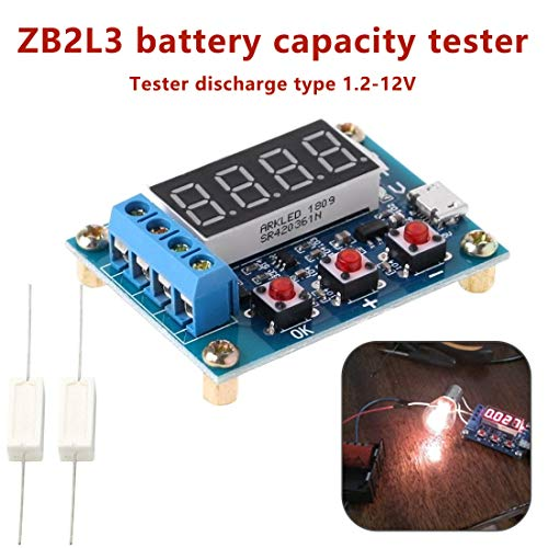 Battery Testers - 18650 Li Ion Lithium Lead Acid Battery Capacity Meter Discharge Tester Analyzer 1.2 12v Test - Batteries Load Best Small Cell Button Testers Cars Battery Digital Automotive