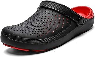 Sandalias de Hombre Tops Zapatos Croc Zuecos de Goma para Hombres EVA Zapatos de jardín Unisex Negro Crocse Adulto Cholas Hombre